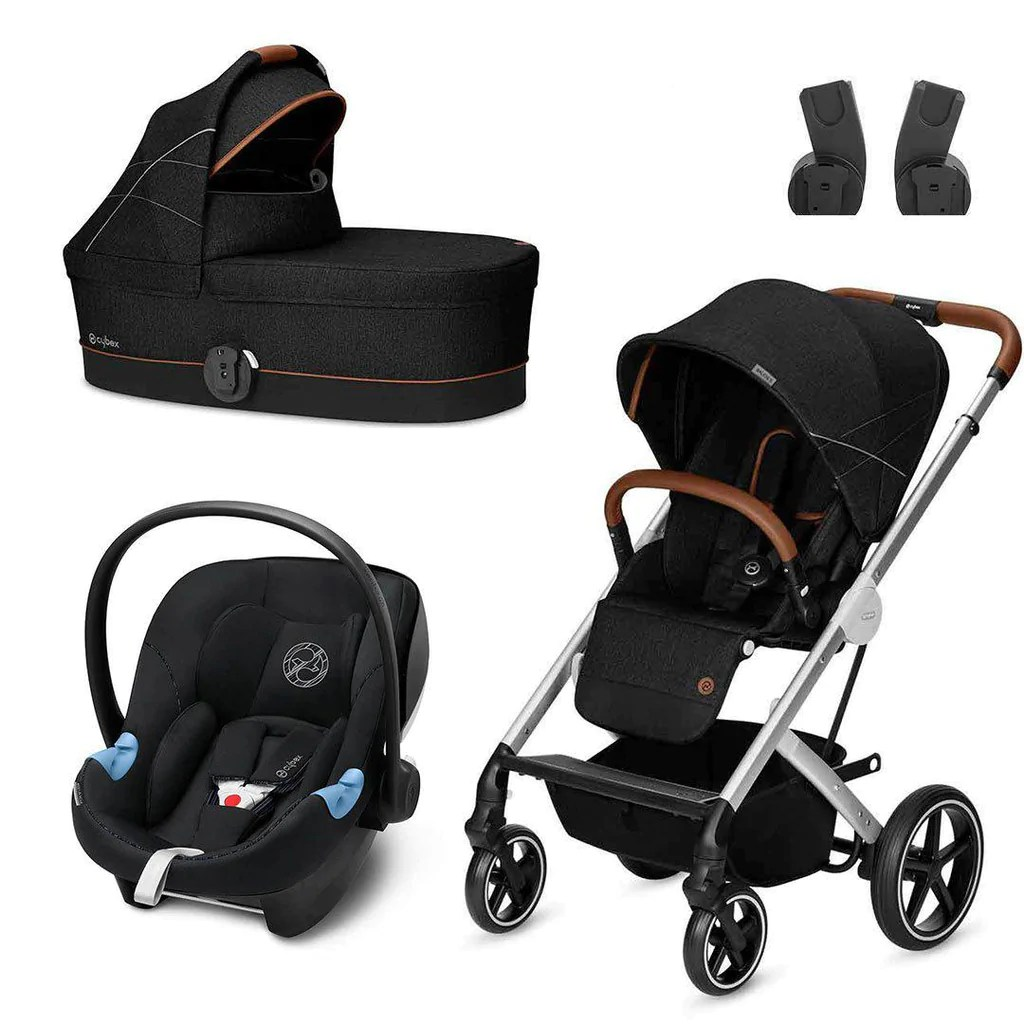 Cybex Stroller Support Cybex Balios S Travel System Denim Lavastone Black