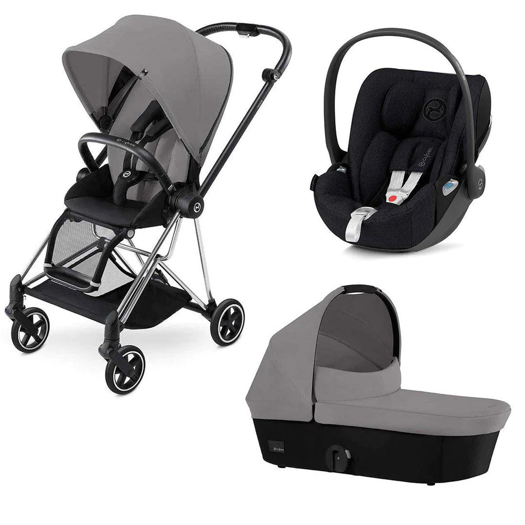 Baby Travel Systems Northern Ireland Cybex Mios Travel System Chrome Black Manhattan Grey 2018