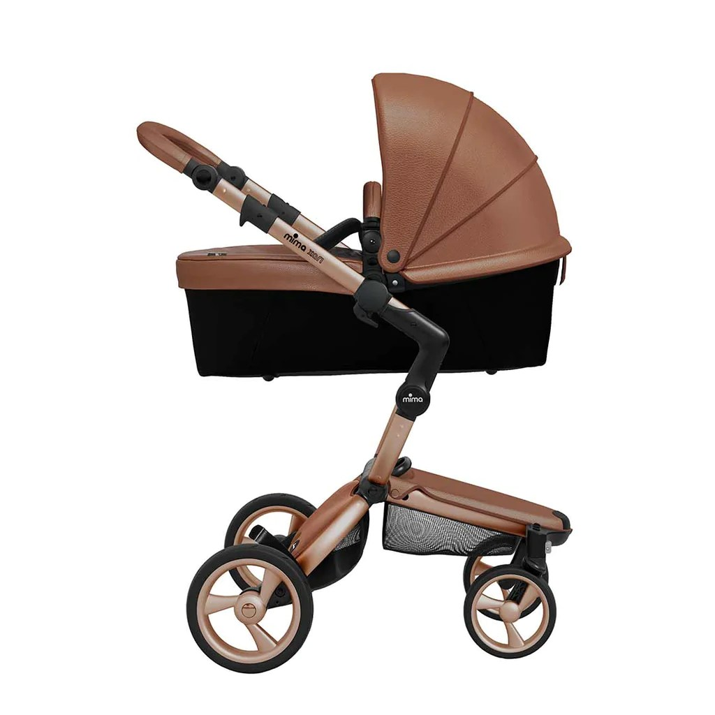 Mima Pram Winter Kit Mima Xari Single Pushchair Camel Flair With Rose Gold Chassis