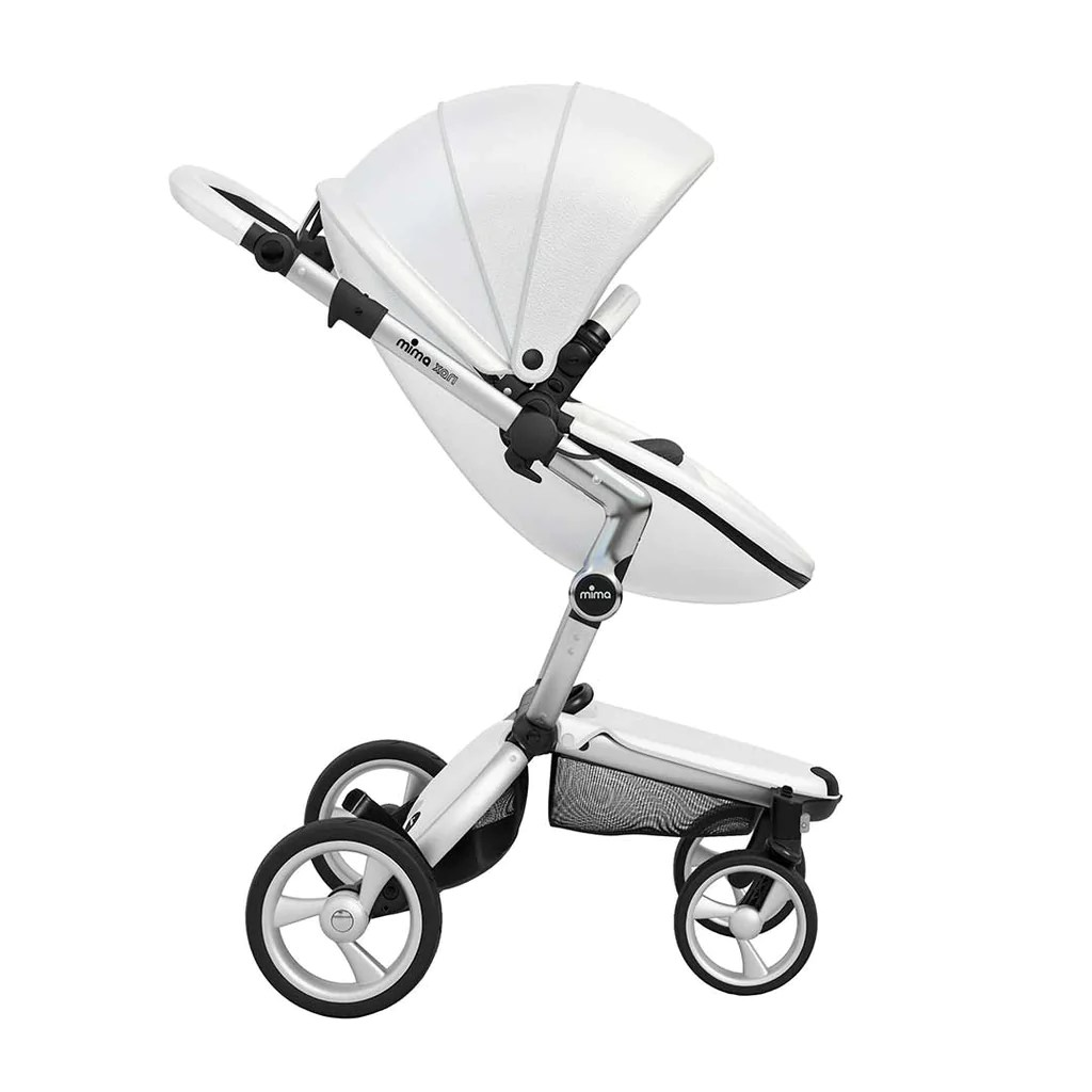 Mima Xari Seat Box 2 Snow-white Mima Xari Single Pushchair Snow White With Aluminium Chassis