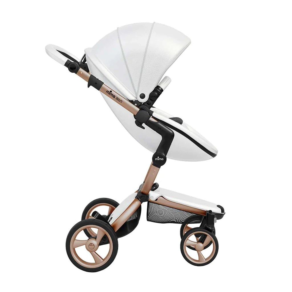 Mima Xari Seat Box 2 Snow-white Mima Xari Single Pushchair Snow White With Rose Gold Chassis