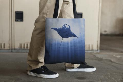 Majestic Manta Tote Bag