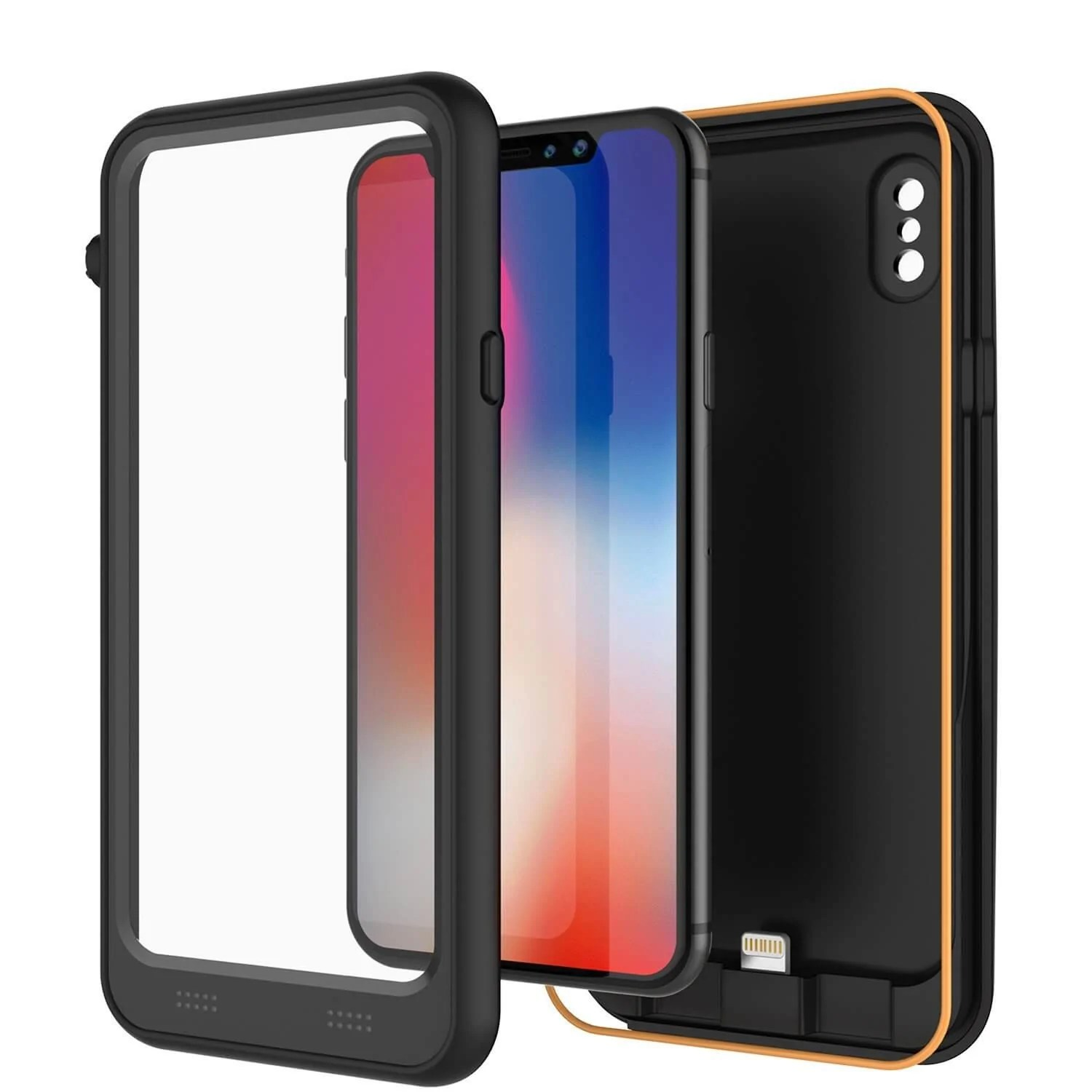 Battery Case For Iphone X Punkjuice Iphone X Battery Case Waterproof Ip68 Certified Ultra Slim Black