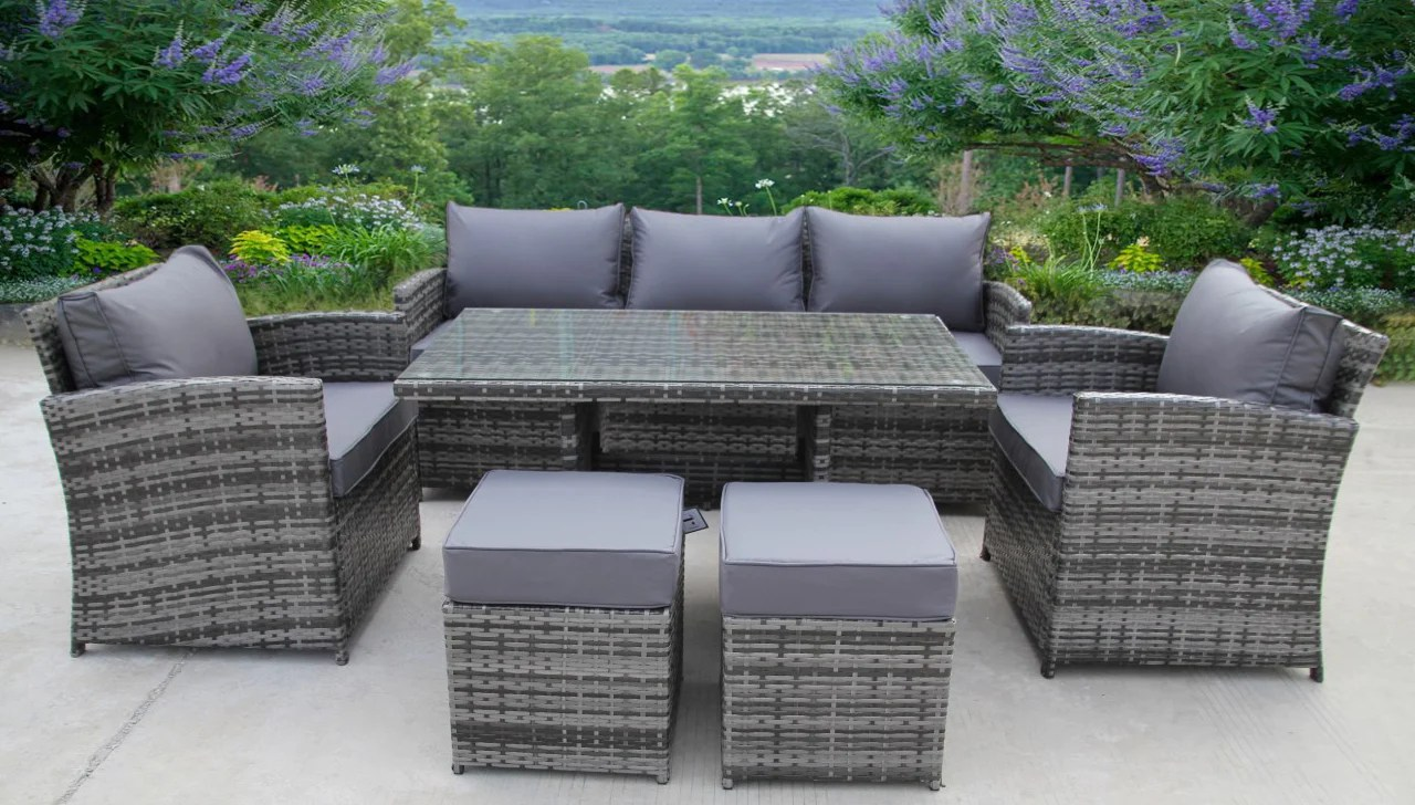 Rattan Corner Sofa Ireland Rattan Wicker Conservatory Outdoor Garden Furniture Dining Set