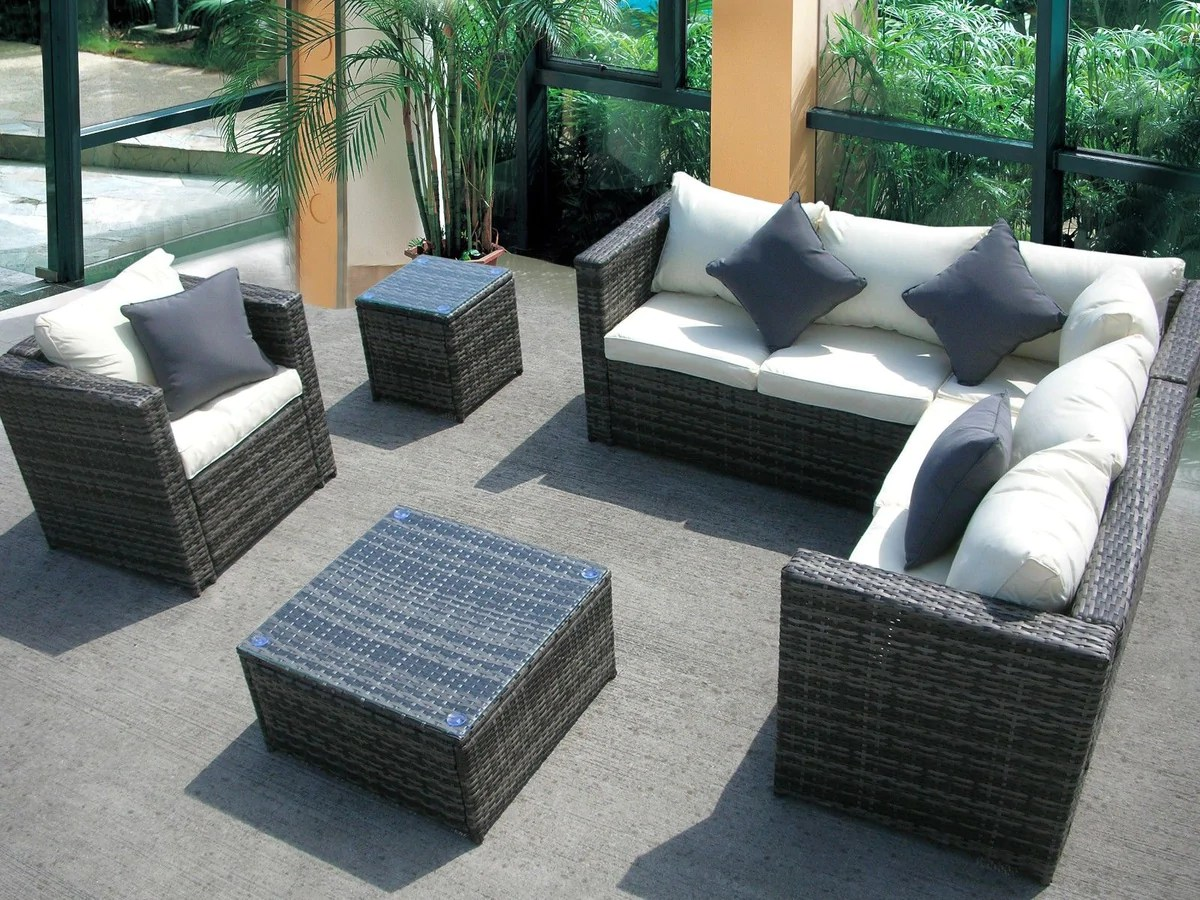 Rattan Sofa Corner Set New Rattan Wicker Conservatory Outdoor Garden Furniture Set Corner Sofa Table