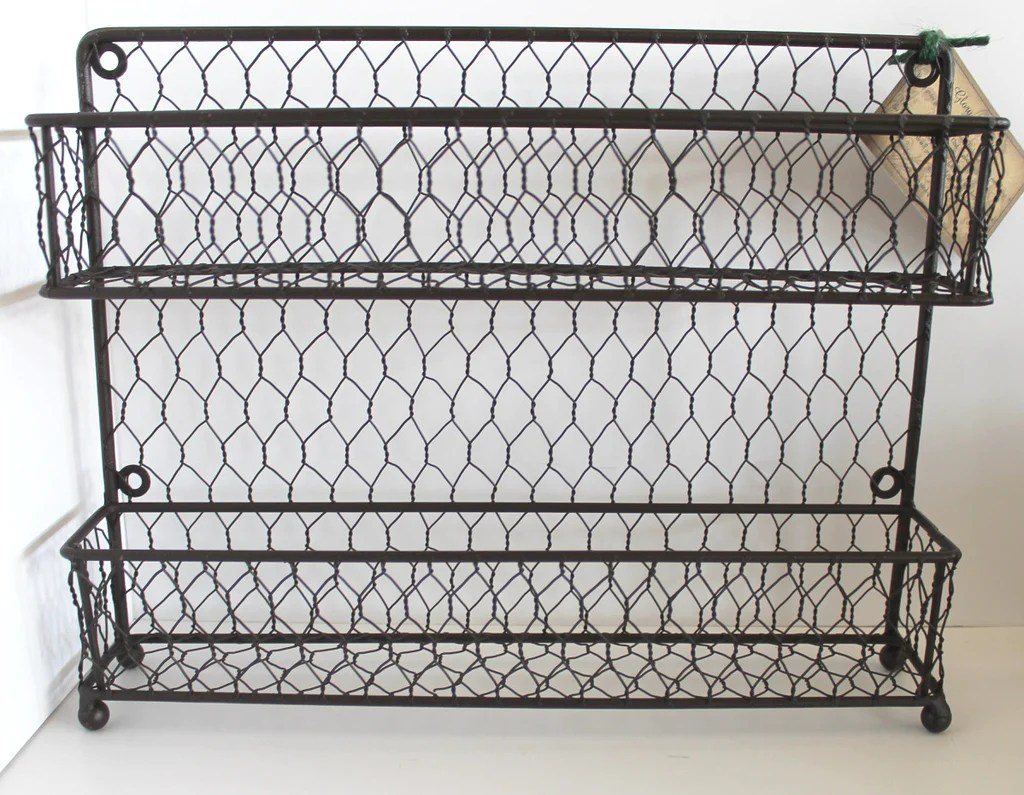 Rustic Modern French Chic Wall Or Counter Iron And Wire