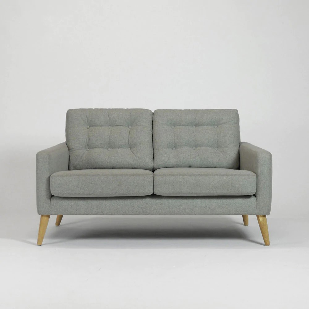 Sofa 60s Wood Wire Pecket 2 Seater Sofa Wood Wire