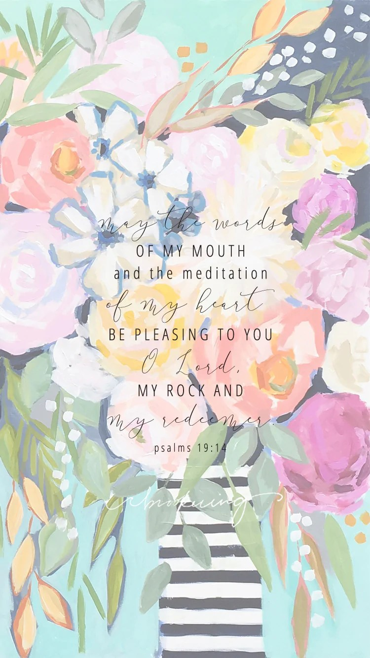 Cute Wallpapers With Nice Quotes Psalms 19 14 Lock Screen C Brooke Ring