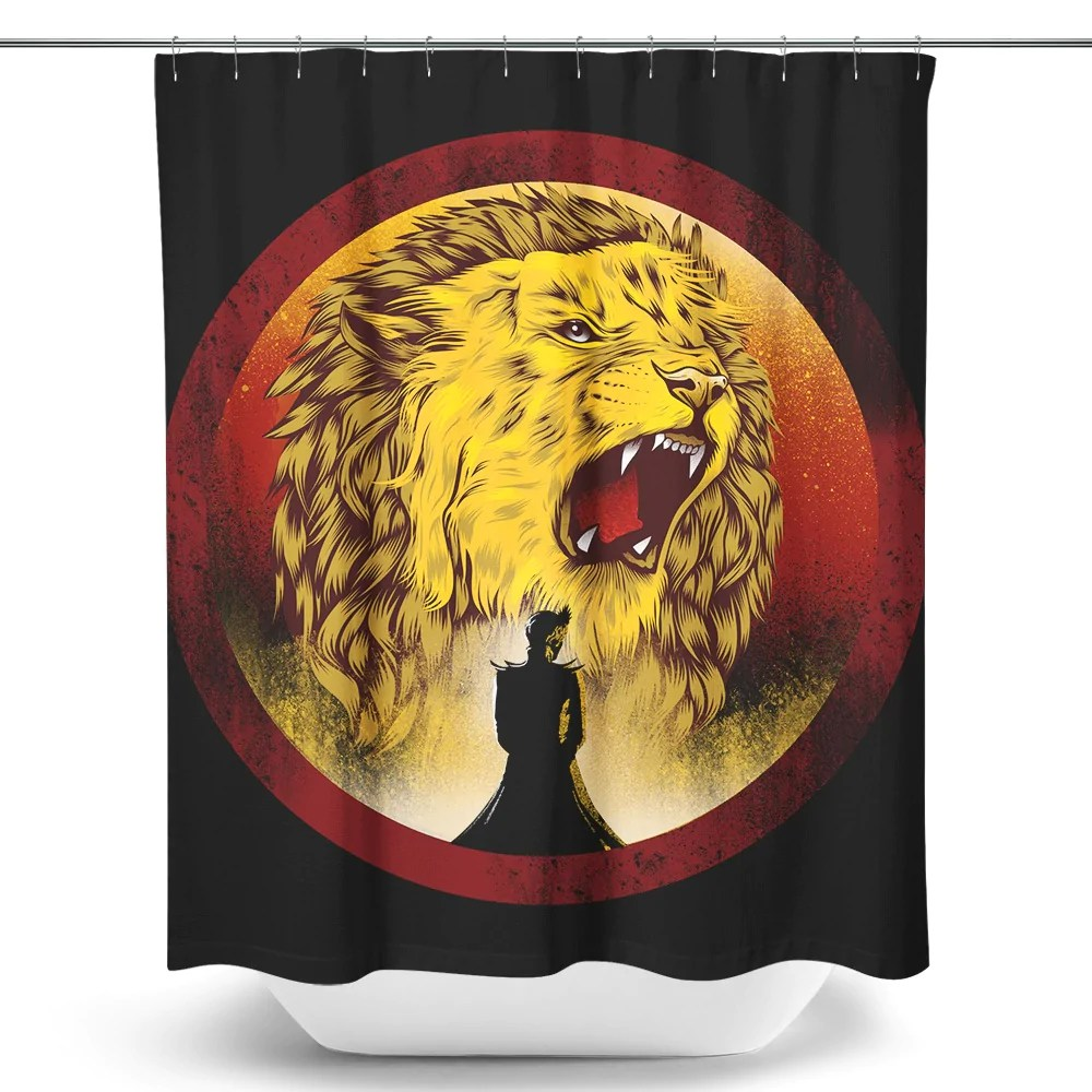 Black Queen Shower Curtain The Queen Regent Shower Curtain