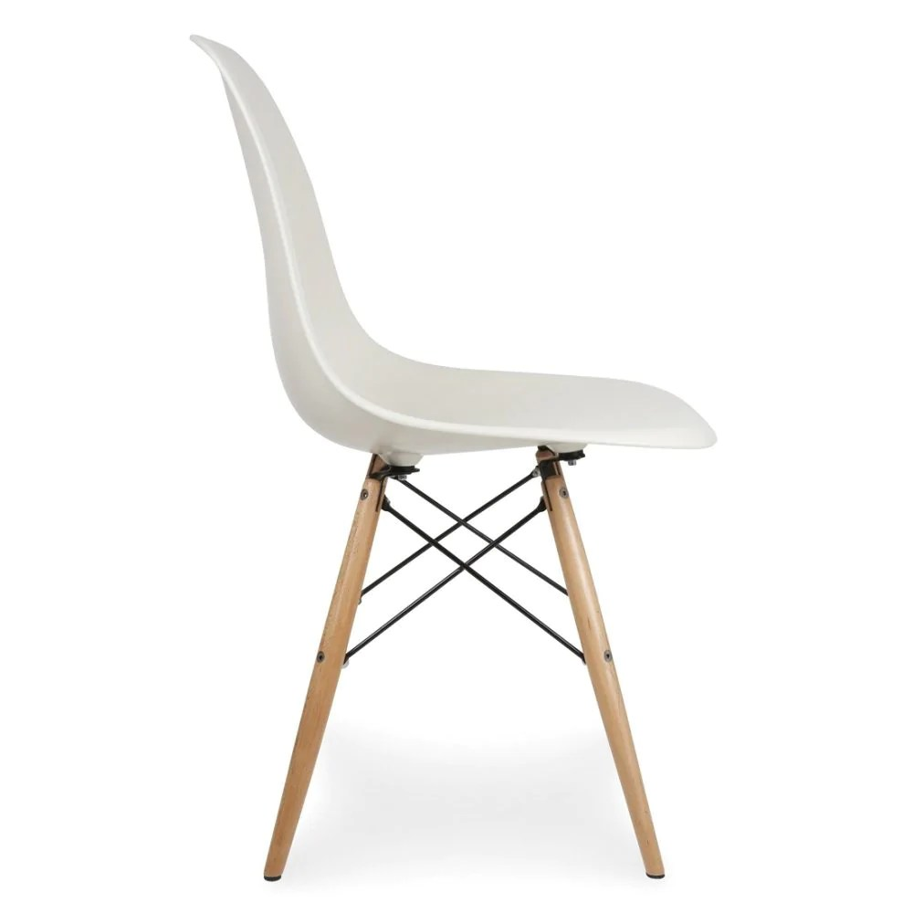 Dsw Eames Stuhl Charles Ray Eames Style Dsw Side Chair White - Natural Legs – S.alternative Furniture