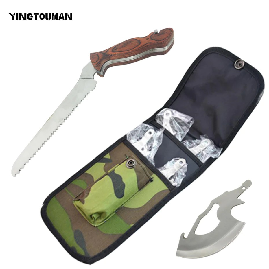 Survival Ax Yingtouman 4 In 1 Outdoor Stainless Multi Folding Camping Saw Knife Axe Handsaw Survival Saw Hunting Hatchet Survival Axe Ax