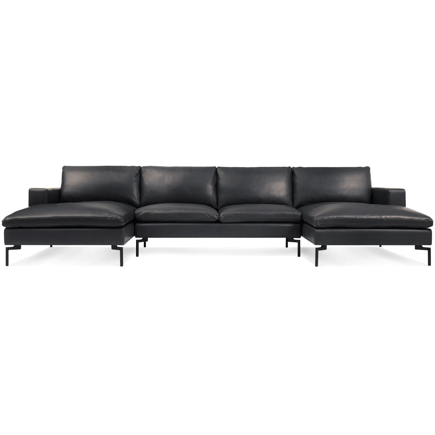U Sofa Blu Dot New Standard U Shaped Leather Sectional Sofa