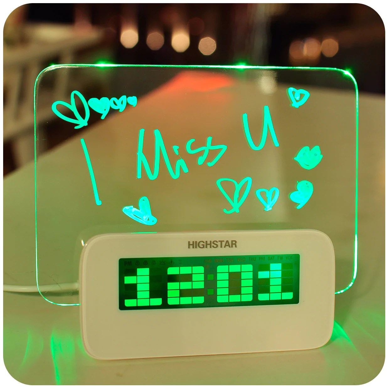 Digital Clock For Sale Hot Sale Led Fluorescent Message Board Digital Alarm Buycoolprice