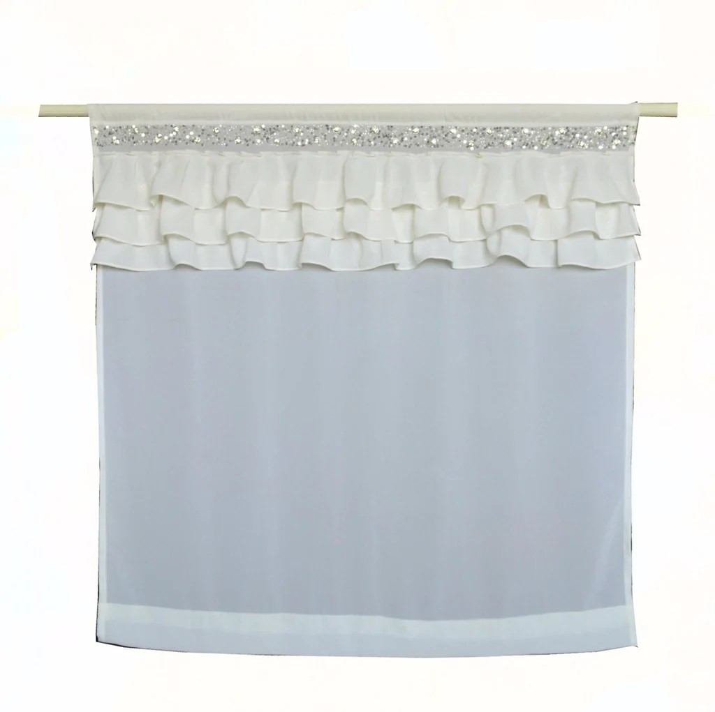 Ruffle Curtain Panel Ivory Ruffle Georgette Sheer Curtains Crystal Chic Luxury Ruffled Curtain Panel Dorm Decor