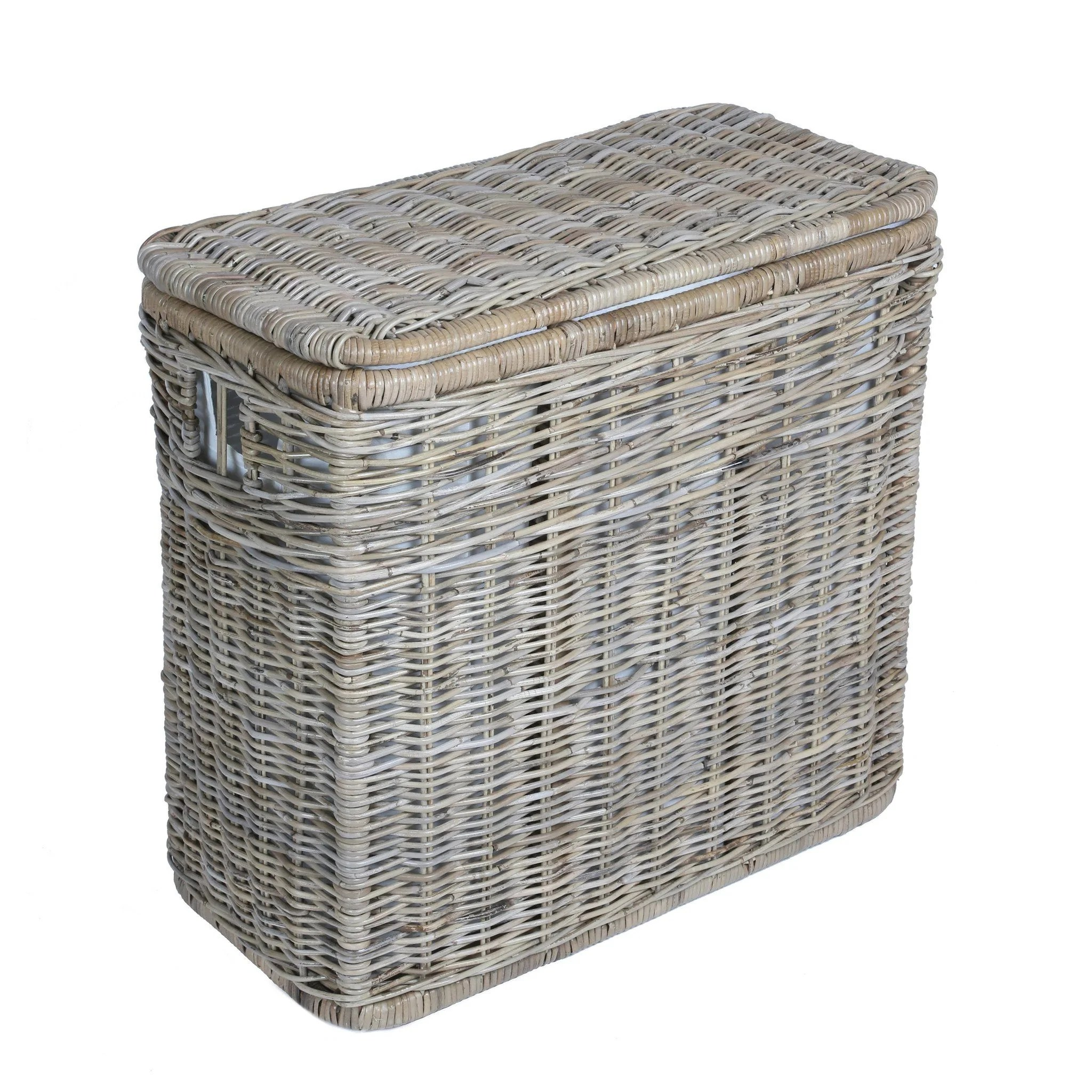 Laundry Basket Three Compartments 3 Compartment Kubu Wicker Laundry Hamper The Basket Lady