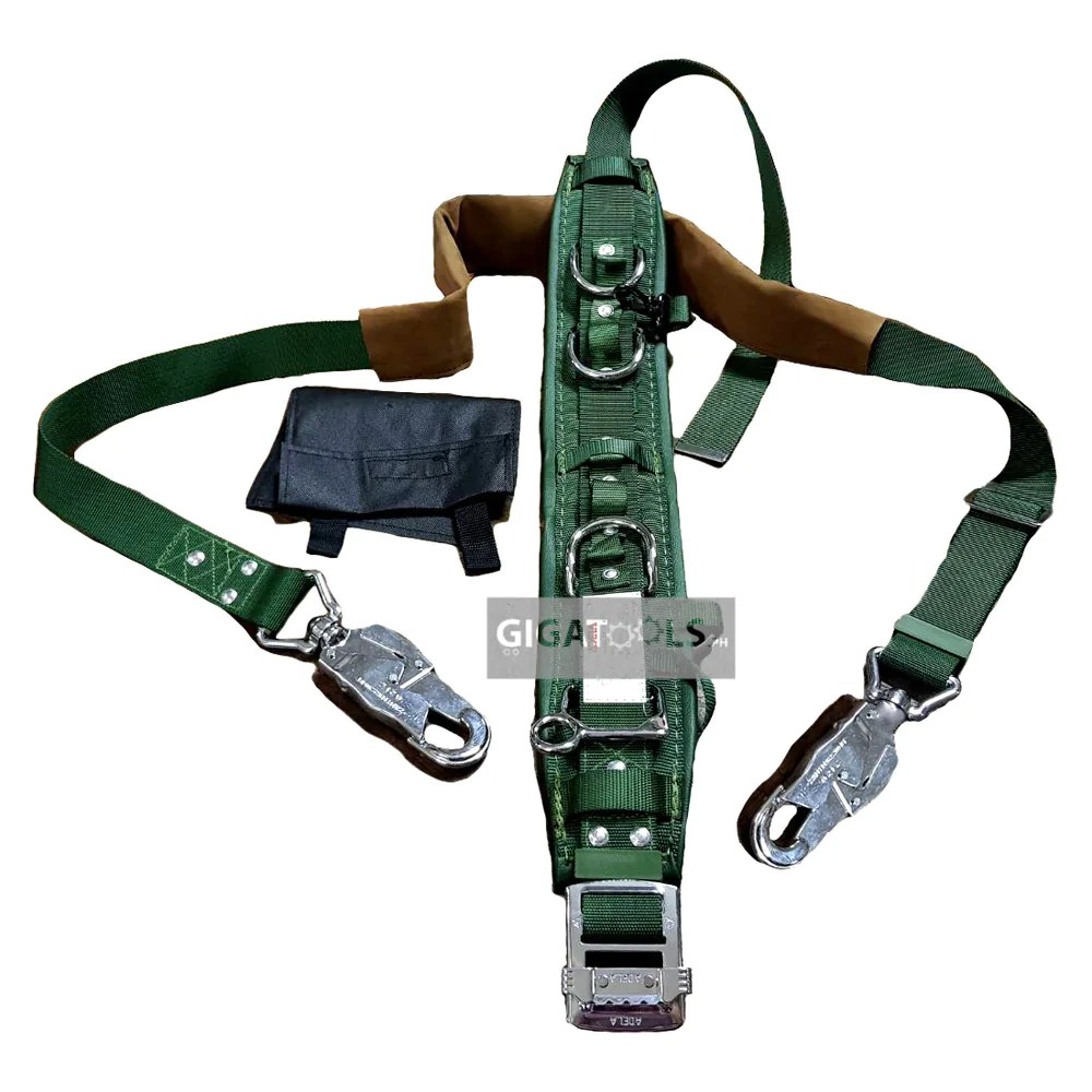 Safety Belt Adela Lineman Safety Harness Heavy Duty Belt With Pole Strap H 117