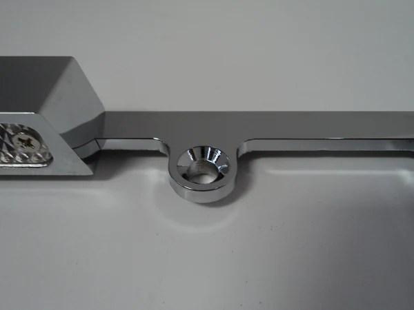 Chrome Aluminum License Plate Frame Wth Light Hot Rod