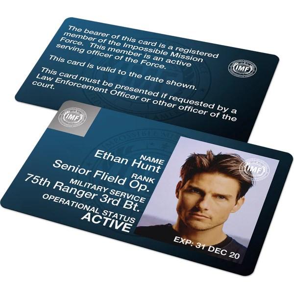 Custom Id Card Mission Impossible Spy Id Badge Set Imf