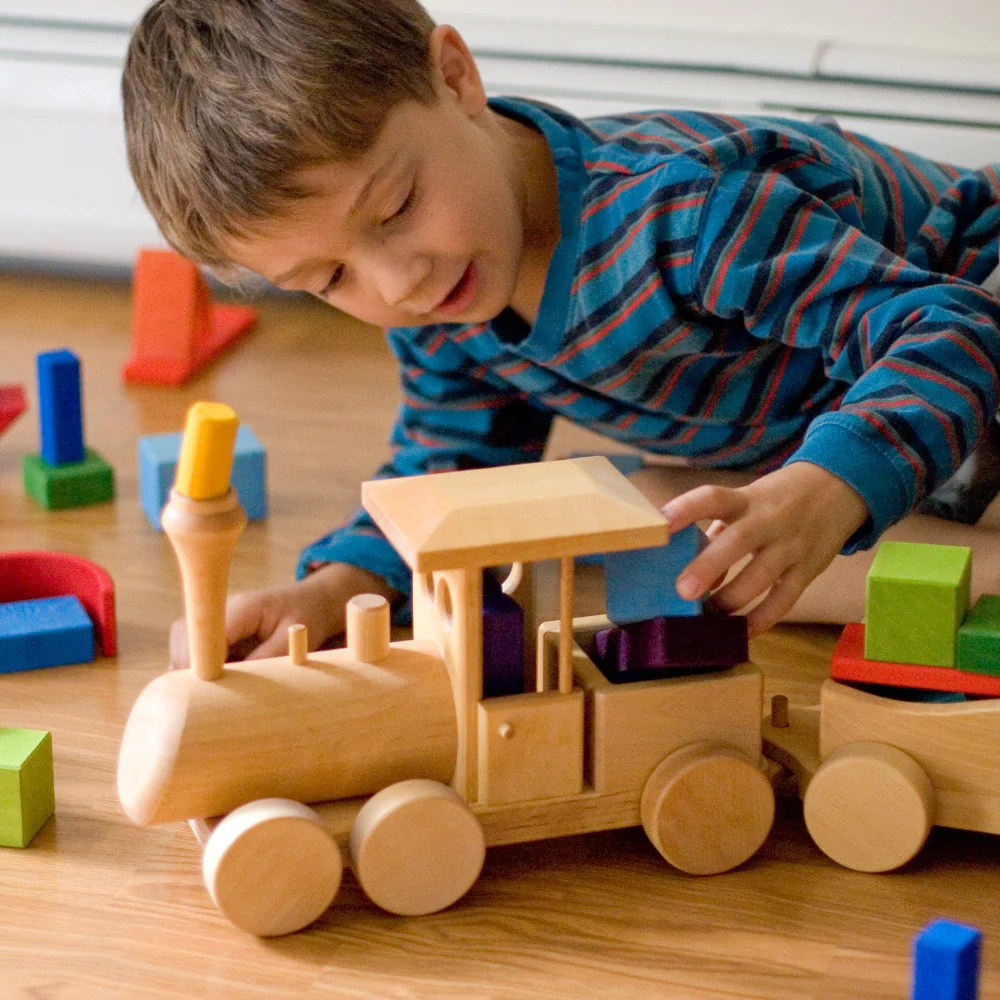 Wooden Train Engine Car Set In Toy Vehicles Nova