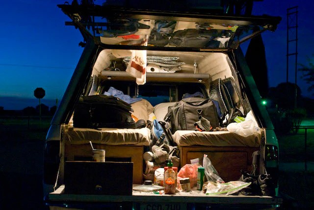 Crowd sourced truck camping setup and organizational ideas