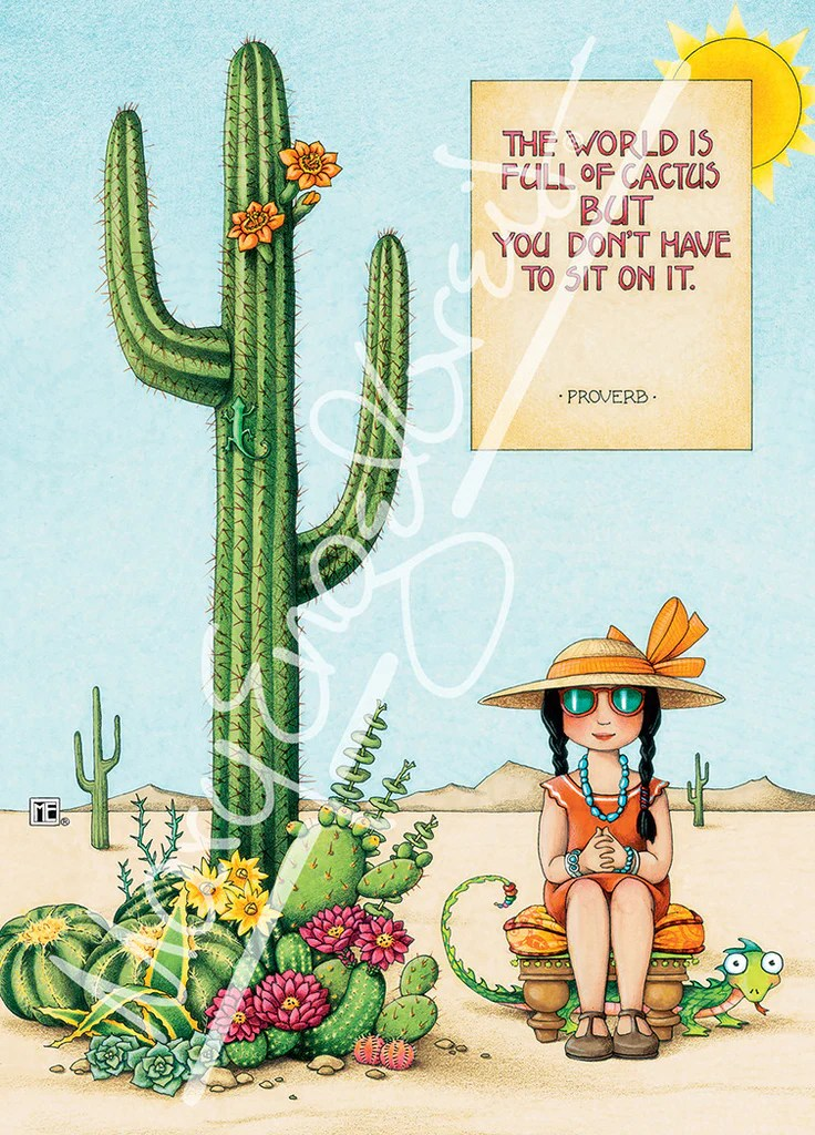 Fall Succulent Wallpaper Cactus Greeting Card Mary Engelbreit