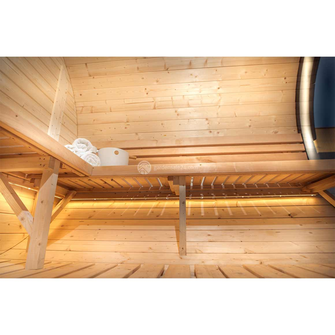 Sauna Led Upright Barrel Sauna