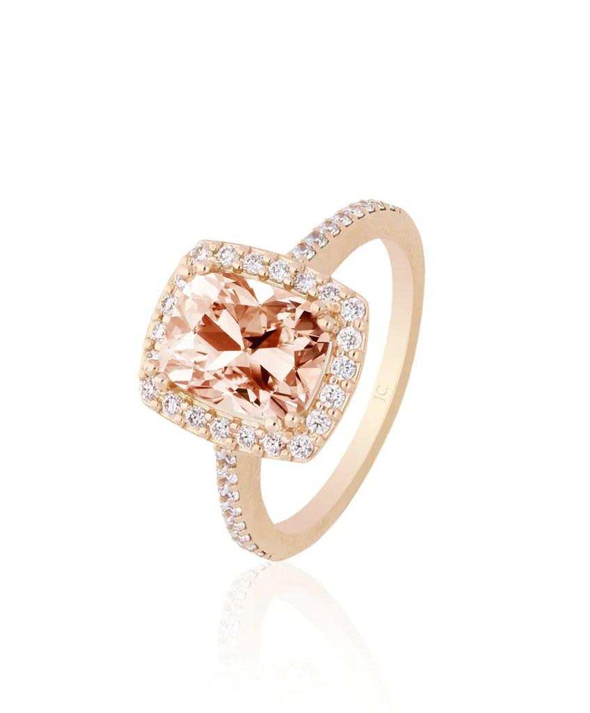 rose gold morganite engagement ring amber wedding ring Amber Engagement Ring