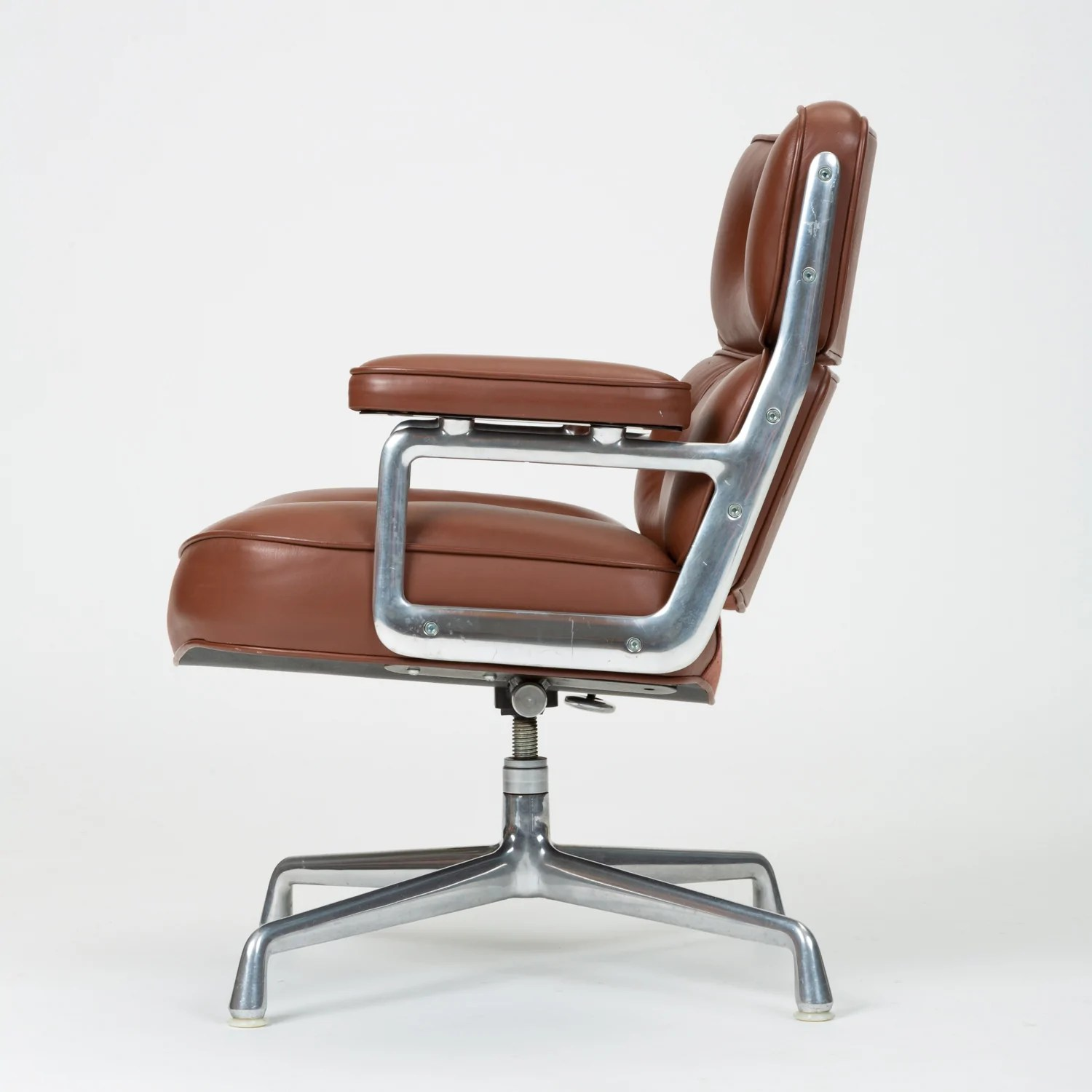 Ray And Charles Eames Ray Charles Eames Time Life Lobby Chair In Chocolate Leather