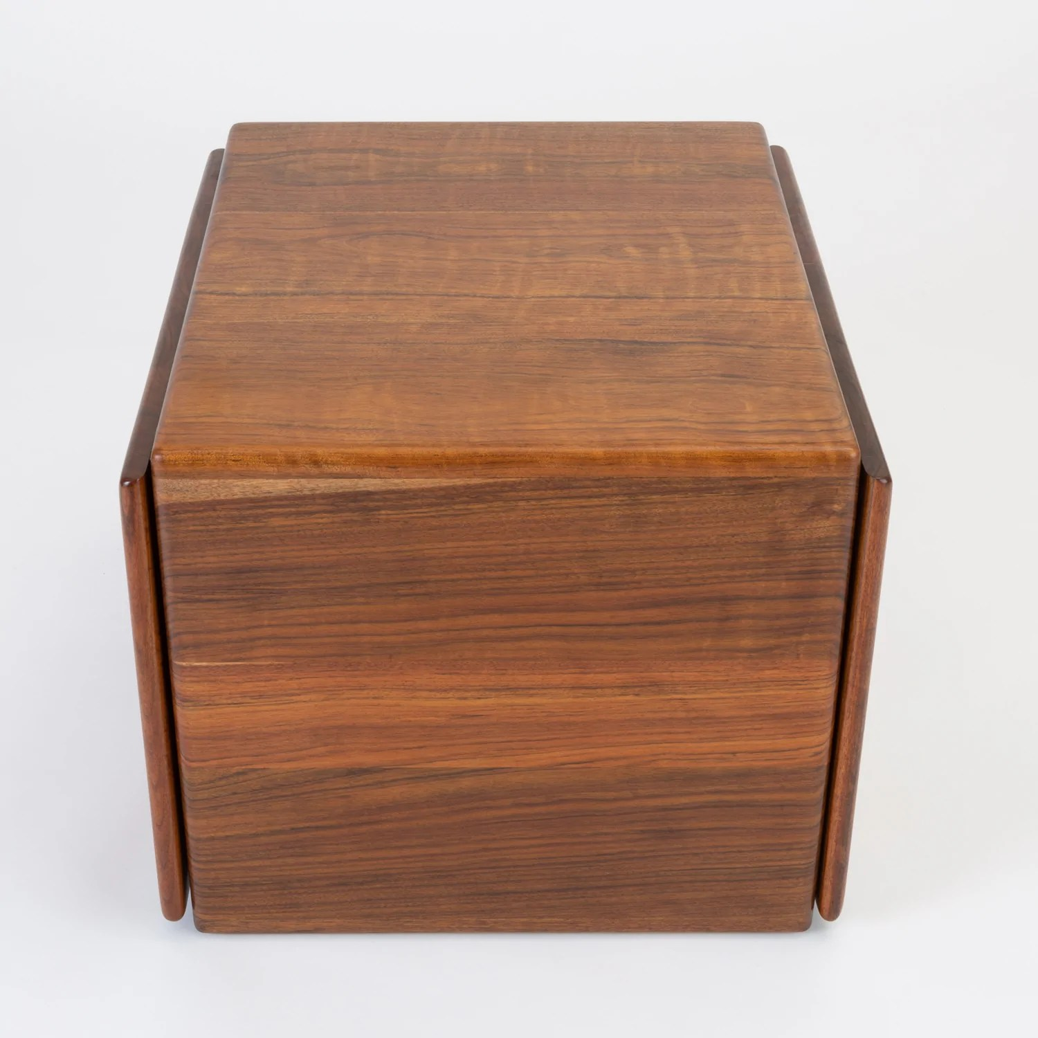 Wood Blanket Box Blanket Chest Or Cube Table In African Shedua By Gerald Mccabe