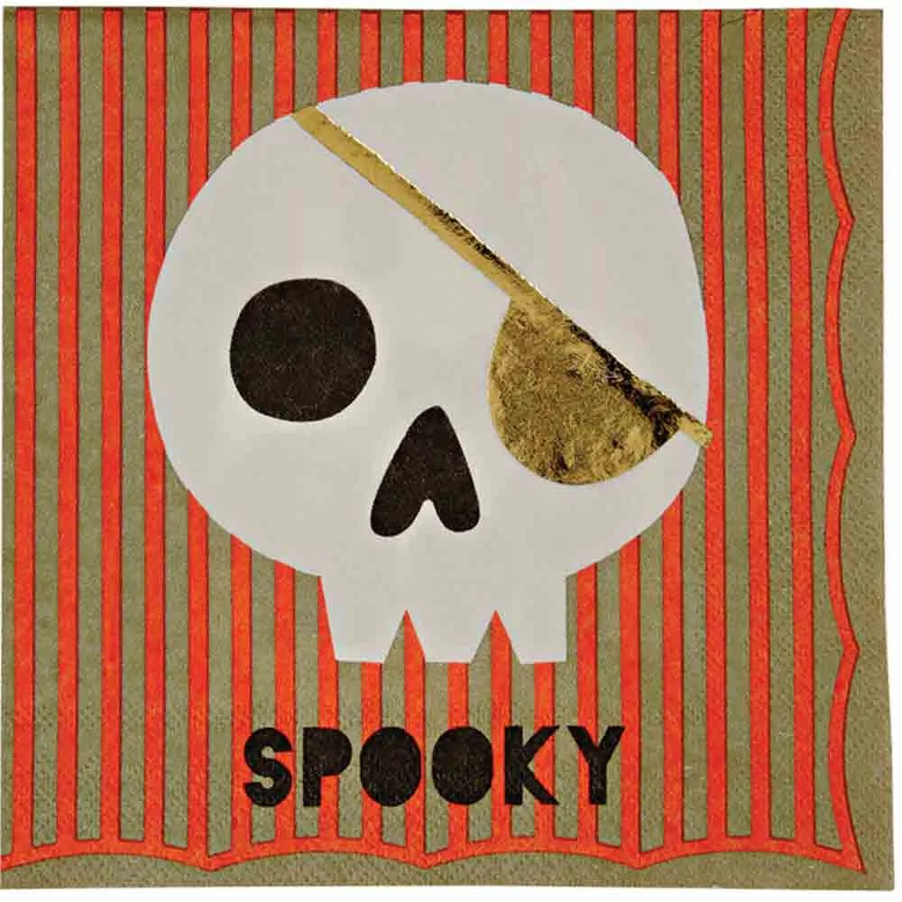Halloween Gespenster Servietten Halloween Totenkopf Serviette 16 Stk