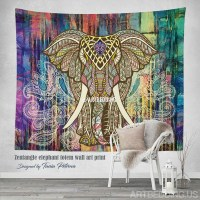 Bohemian Tapestry, Elephant wall tapestry, Hippie tapestry ...