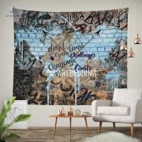 Boho tapestry, Urban graffiti wall Tapestry, Inspirational ...