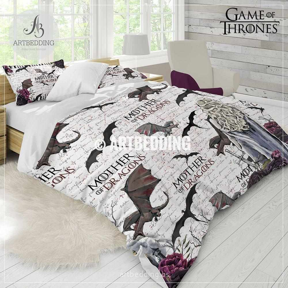 Pink Duvet Cover Game Of Thrones Bedding Set Got 5 Piece Duvet Cover Set Gotdesigner Daenerys With Dragons Comforter Set
