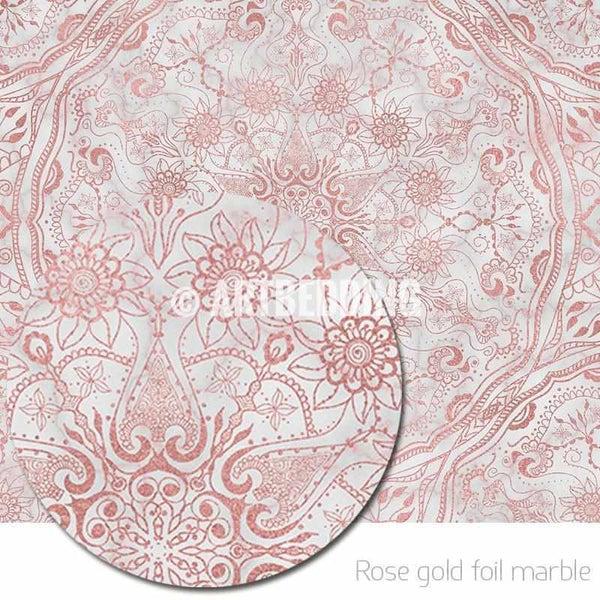 Cute Mandala Wallpaper Mandala Tapestry Mehendy Henna Rose Gold And Marble