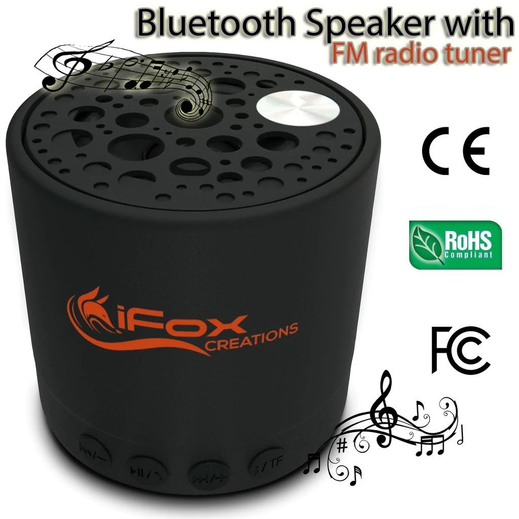 Bluetooth Box Ifox Creations If010 Bluetooth Speaker Portable Bluetooth Speaker With Fm Radio Tuner Sd Card Aux In And Usb Charger Wireless Speaker For