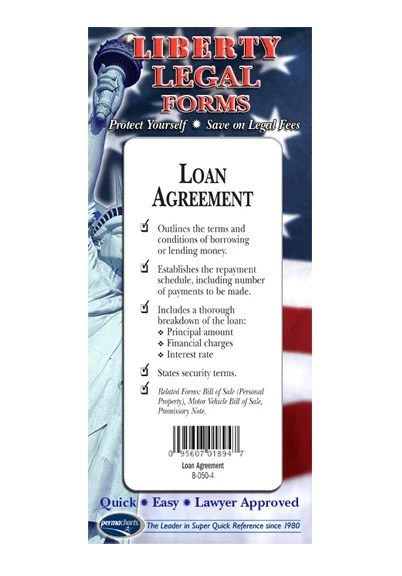 Loan Agreement Legal Forms Kit - 2 Blank Legal Forms and Legal Guide