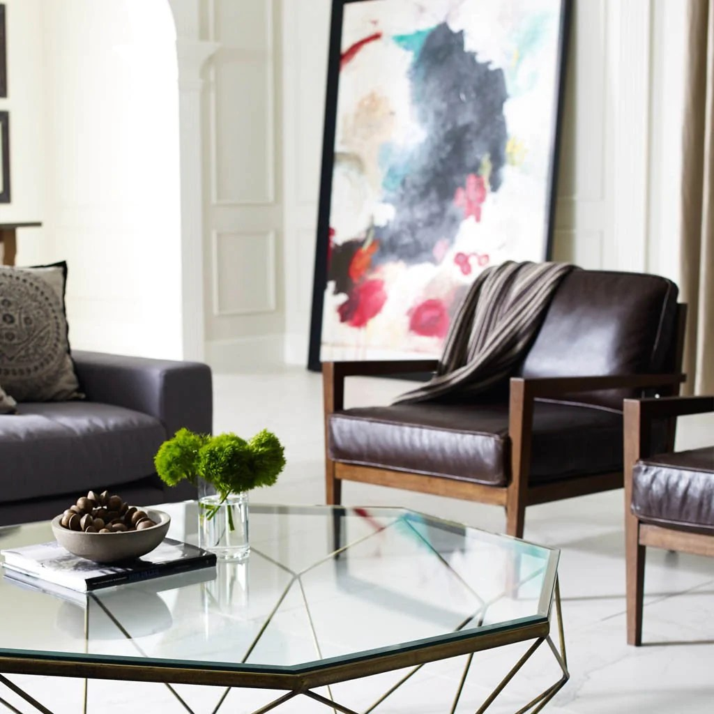 Accent Chairs To Go With Brown Leather Sofa Laurent Accent Chair Dark Brown Leather