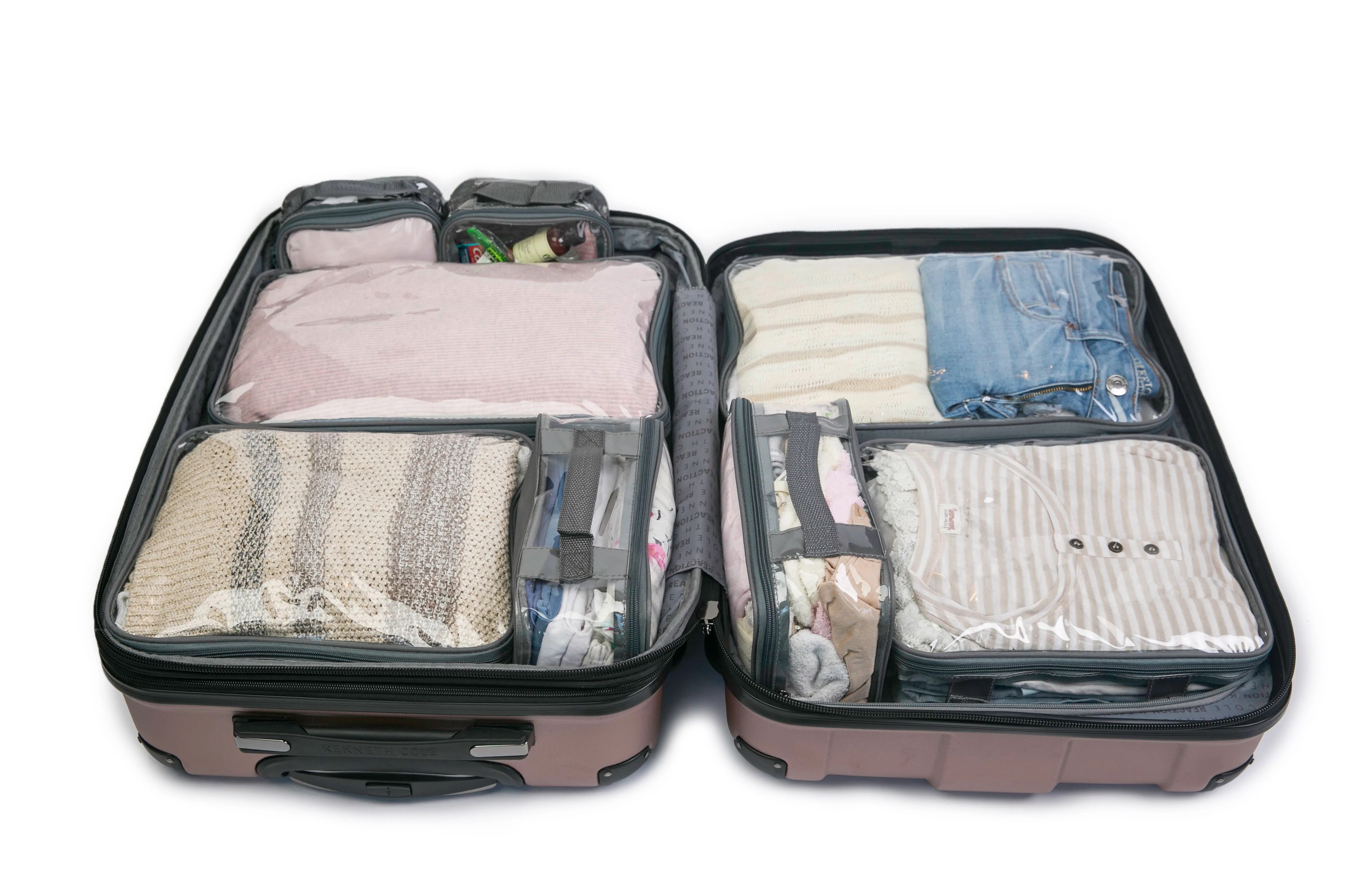 Packing Cells Ezpacking Clear Travel Packing Cubes And Packing Organizers