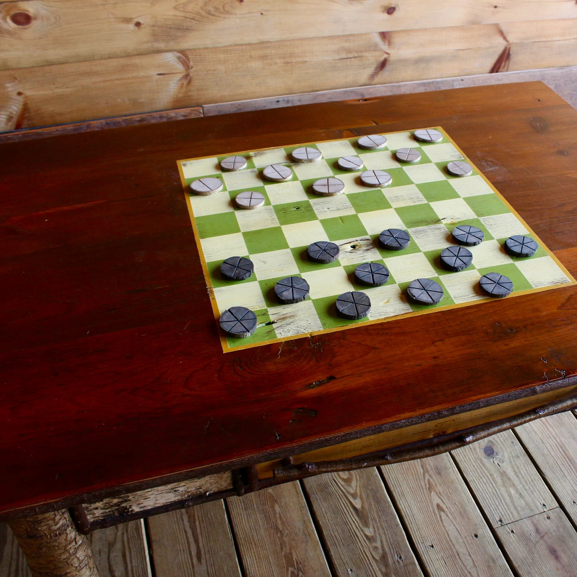 Handcrafted Games Game Coffee Table Adirondack Rustic Game Coffee Table