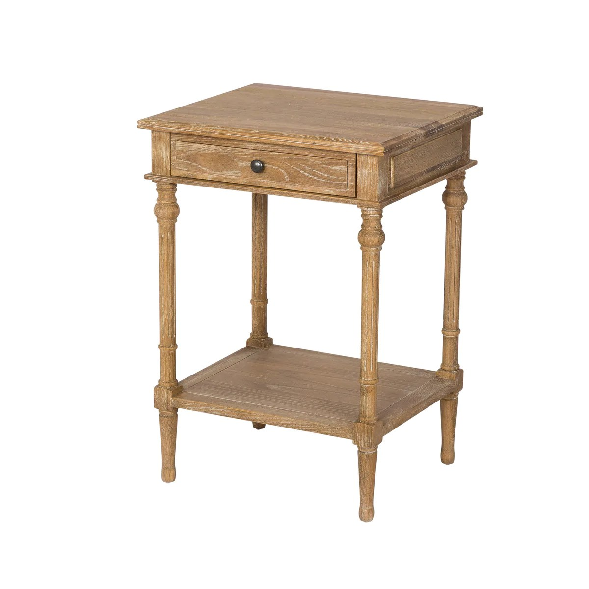 Provincial Bedside Tables 1 Drawer 1 Shelf Oak Bedside Table