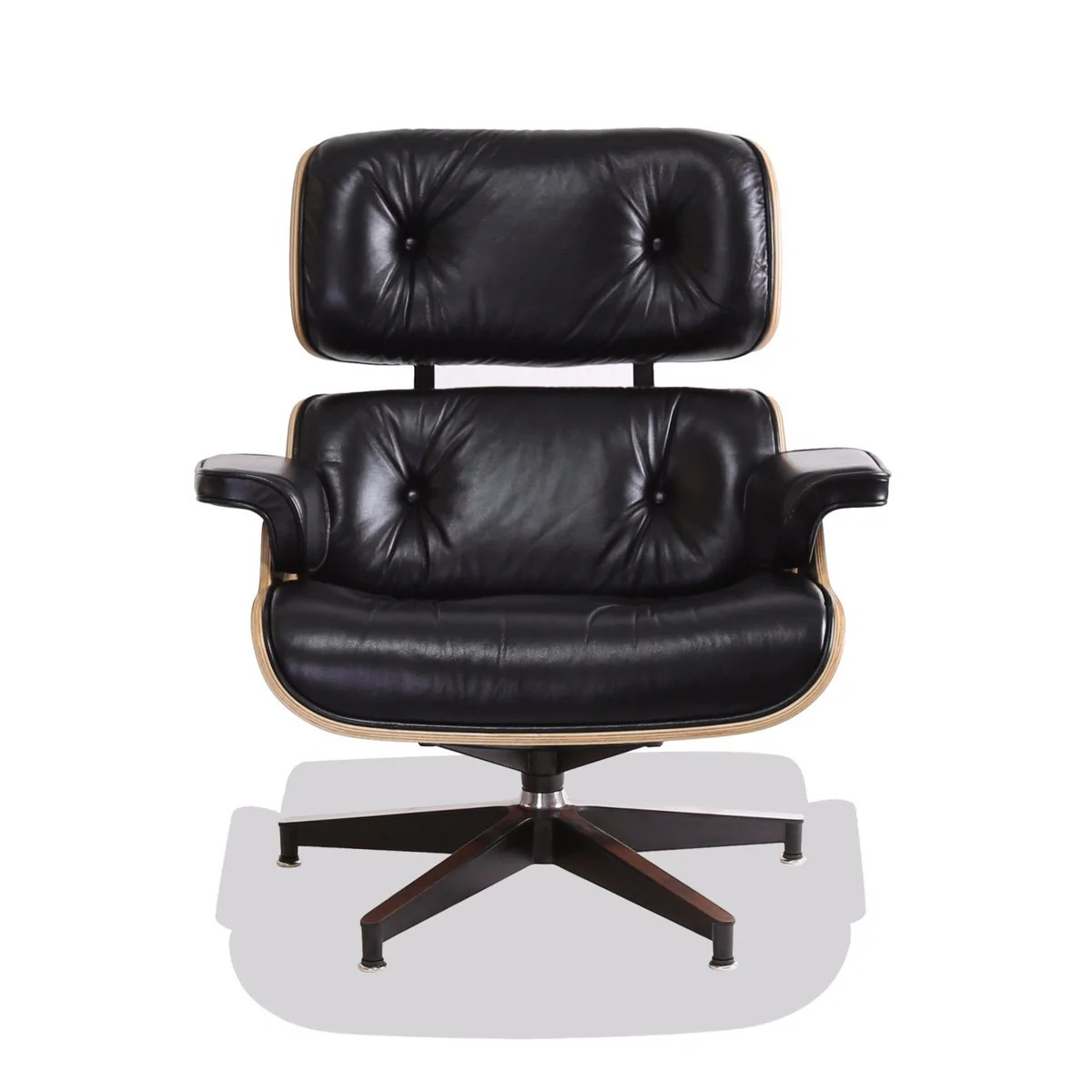 Sedia Wooden Eames Sedia Eames Replica Eames Style Lounge Chair Black Leather With