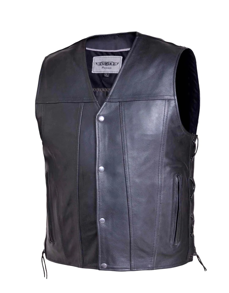 Piece Unik Flat Bottom Side Tie Mens Vest Single Piece Back