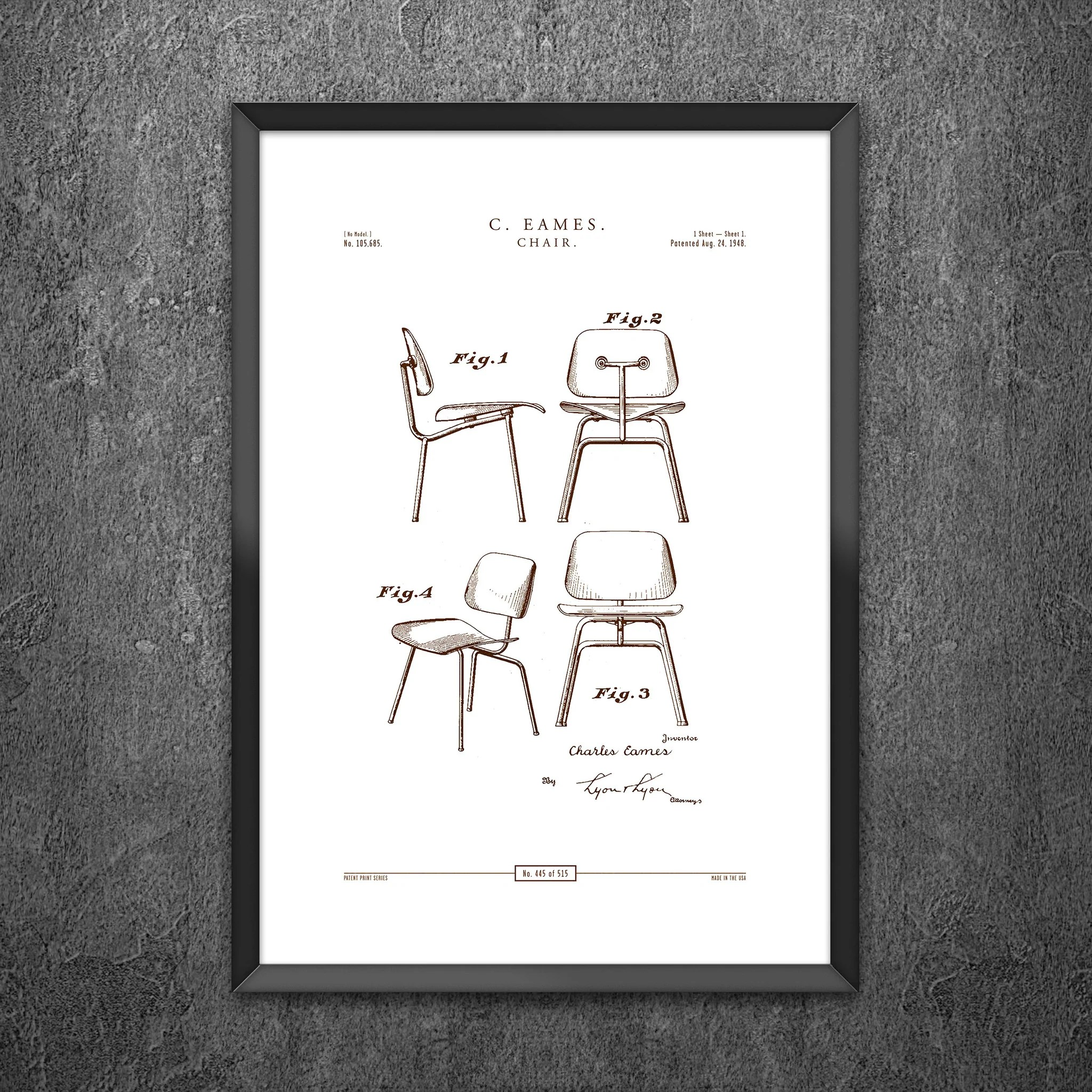 Eames Chair Patent No 445 Chair