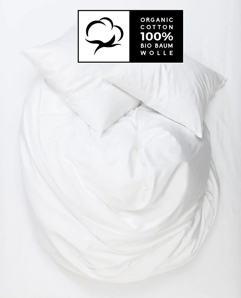 Kinderbettwäsche Organic White Organic Percale Cotton Duvet Covers Pillows Naturale