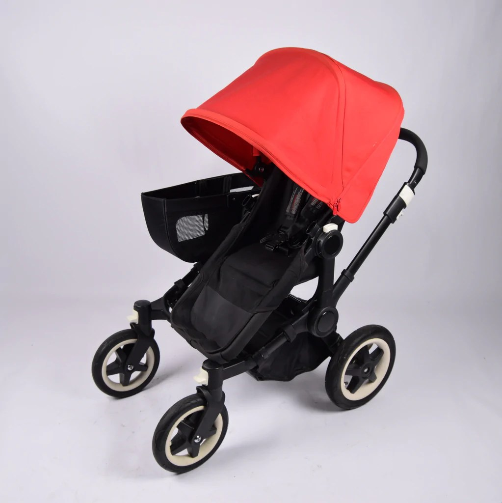 Double Pushchair Bugaboo Bugaboo Donkey Twin Black Red Grade 1