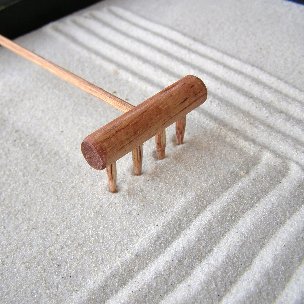 Table Top Zen Garden Mini Tabletop Zen Garden Rake Handmade In Oregon U S A Plain Jane