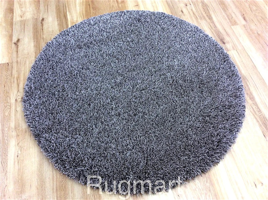 Round Luxury Shaggy Rugs Soft Heavy Weight Easy Care