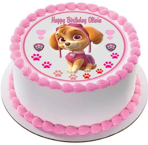 Girl Paw Patrol Wallpaper Paw Patrol Skye 4 Edible Birthday Cake Or Cupcake Topper