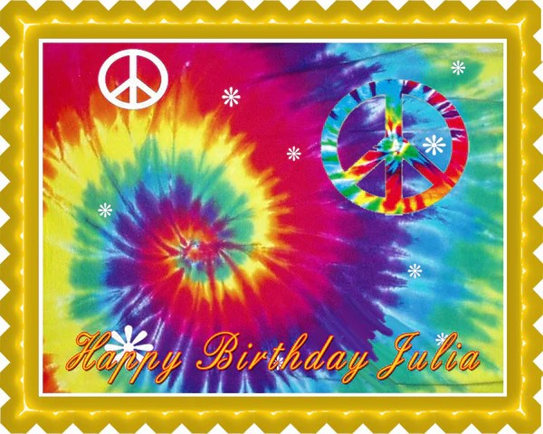 tie dye happy birthday