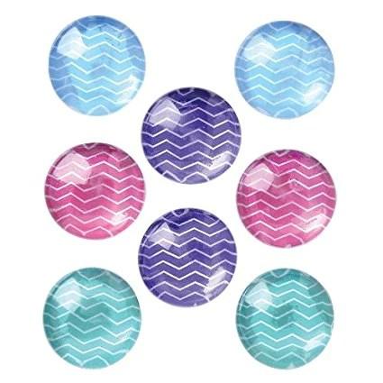 """Quartet Magnets for Dry Erase Board, Bulletin Board, 1"""" Multi-Color, 8 Pack"""